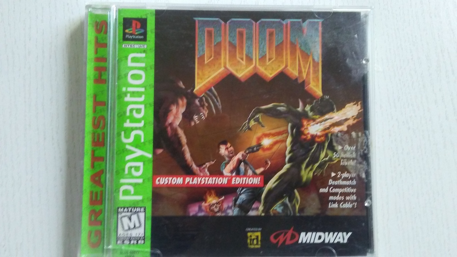 Original PS1 Doom Complete Game , Case , Manual Playstation 1 Free Shipping