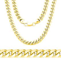 Men/Womens 14K YG Covered 925 Silver Miami Comfort Cuban Link Italian Chain - $171.18+