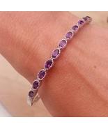 Amethyst Tennis Bracelet Bangle Set 925 Sterling Silver NEW Jewellery RR... - $231.04