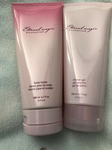 Primary image for Avon Eternal Magic Enchanted Body Lotion & Shower Gel 6.7 fl.oz. Brand New  Seal