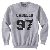 Cabello 97 BLACK ink camila cabello Crewneck Sweatshirt LIGHT STEEL - $30.00+