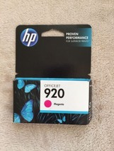 HP 920 Magenta Ink Cartridge Sealed In Box New Single Unit, Inkjet, exp ... - $18.54
