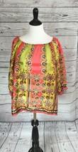 Anthropoligie Fei 100% Silk Printed Blouse Size... - $28.05