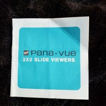 Vintage gaf Pana-vue 2x2 Slide Viewers Instruction Booklet (list in desc... - $8.58