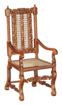 DOLLHOUSE MINIATURE 1:12 SCALE WALNUT SIDE CHAIR #J00824WN - $49.68