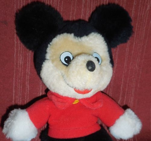 VTG WALT DISNEY KNICKERBOCKER MICKEY MOUSE DOLL PLUSH ANIMAL TOY STUFFED OLD 8