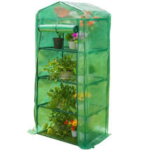 """Mini Green House with 4 Tier 4 Shelf and PVC Cover, 27""""(L) x 19""""(W) x 63... - $45.99"""