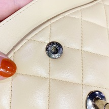 SALE* AUTHENTIC Chanel Quilted Lambskin Classic Medium Beige Double Flap Bag SHW image 9