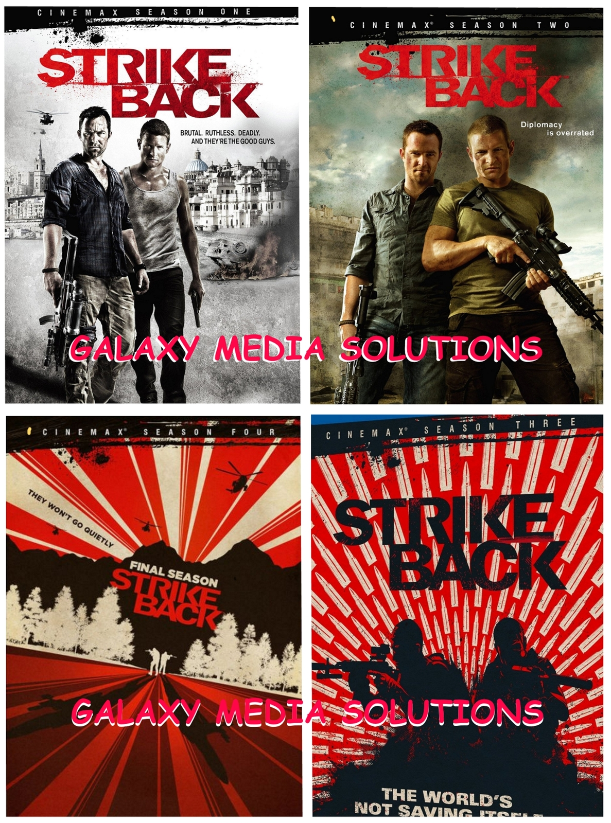 Strike back season 1 4 one four dvd bundle
