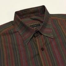 Robert Talbott Carmel Rainbow Striped Men's Medium Cotton Casual Button ... - €11,84 EUR