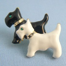 Black & White Scotties Dog Enamel Pin - $9.95