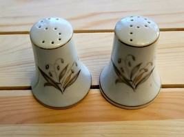 Fine China Salt & Pepper Shakers, Golden Rhapsody by Kaysons, Made in Ja... - $14.85