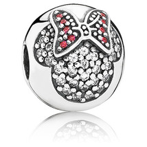 925 Sterling Silver Minine Pave Clip Charm Bead QJCB464 - $21.98