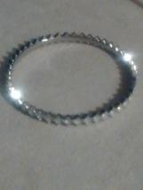 Silvertone Crystal bangle - $6.95