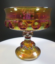 Indiana Glass Kings Crown Wedding Bowl Carnival... - $31.92