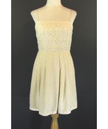 KAY UNGER Size 8 Pristine Ivory Lace Party Dres... - $79.98