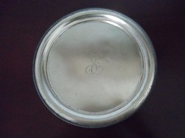 "Electroplated 10"" silver platter~reverse markin... - $36.58"