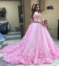 Cheap prom dresses 2017,Pink Wedding Dresses,Flower Wedding Dresses - $289.00
