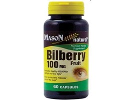 60 CAPSULES BILBERRY FRUIT 100 mg VISION URINARY TRACT KIDNEY HEALTH SUP... - $7.34