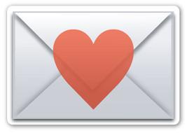 Emoji Love Letter shaped vinyl sticker 100mm or 150mm Valentines Day sexy - $3.00+