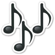 Emoji Musical Notes shaped vinyl sticker 100mm or 150mm sheet music art ... - $3.00+