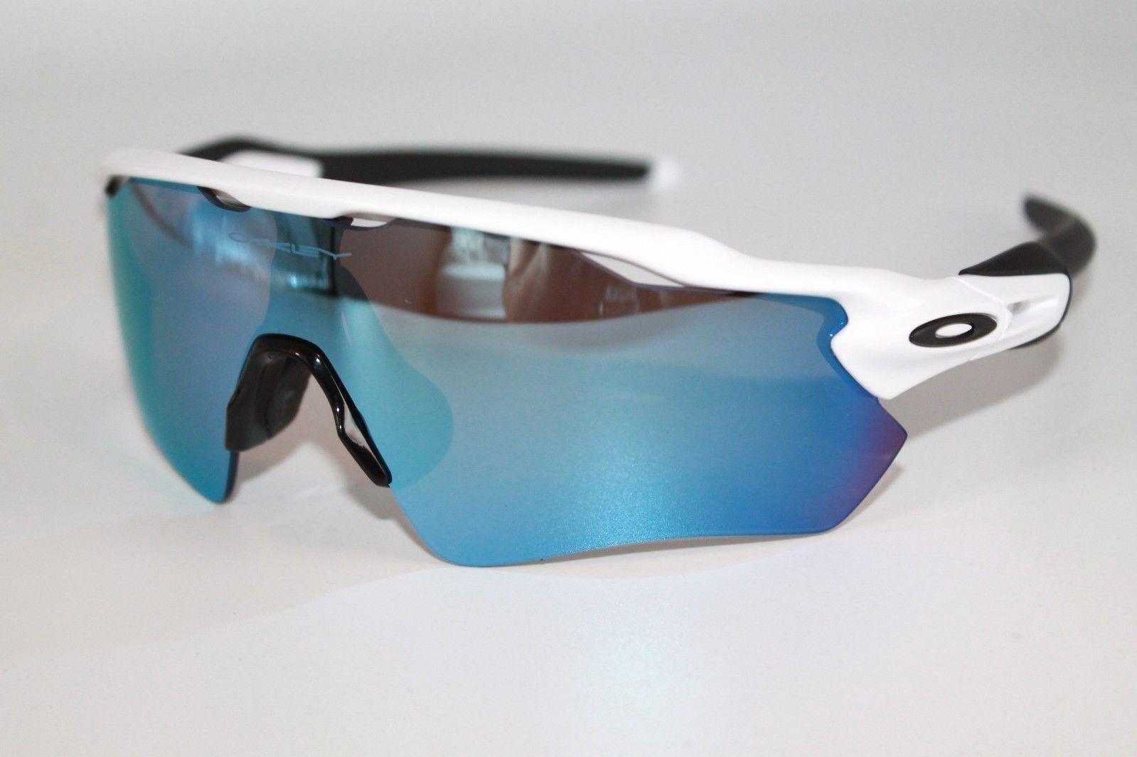 5bccd246db S l1600. S l1600. Custom Oakley Radar EV Sunglasses Polished White Frame W   Sapphire Iridium Lens  Custom ...