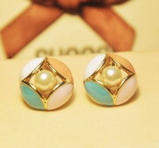 Lovely Lacquered Bud Shaped Stud Earrings - $7.29