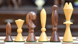 Reproduced ANRI Space Age Chess Set by Arthur Elliott in Sheesham Wood S1265 - $116.99