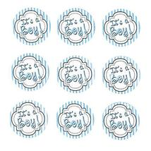 Baby Shower Seal Paper Stickers, 1-Inch, 24-Count #PS_16023 (Its a Boy -... - $12.87