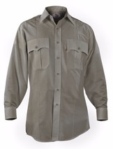 ELBECO DUTY PLUS LONG SLEEVE MENS UNIFORM SHIRT DUTY PLUS grey 16.5 X 34 - $17.80