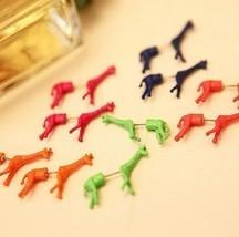 Unique Style Fluorescent Giraffe Single Stud Earring(Orange) - $7.29