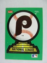 Philadelphia Phillies Decal Veterans Stadium 1988 Fleer Baseball Card  - $0.98