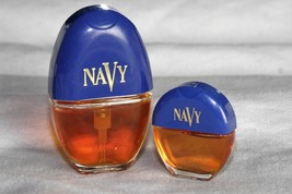 Vintage 90s NAVY Cologne Spray Perfume .3 oz AND .10 oz  Women By Dana  - $19.36