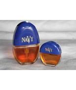 Vintage 90s NAVY Cologne Spray Perfume .3 oz AND .10 oz  Women By Dana  - $19.36
