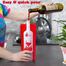 2 Pcs - 750 ml Foldable Wine Bottle Flexible Reusable Portable Club Beac... - $152,68 MXN