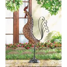 Tuscan Wrought- Iron Home Decor Roosta-Tall - $45.00