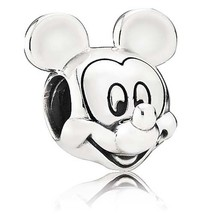 925 Sterling Silver Disney Mickey Mouse Portrait Charm Bead For Bracelet... - €17,67 EUR
