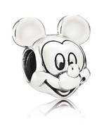 925 Sterling Silver Disney Mickey Mouse Portrait Charm Bead For Bracelet... - $20.99