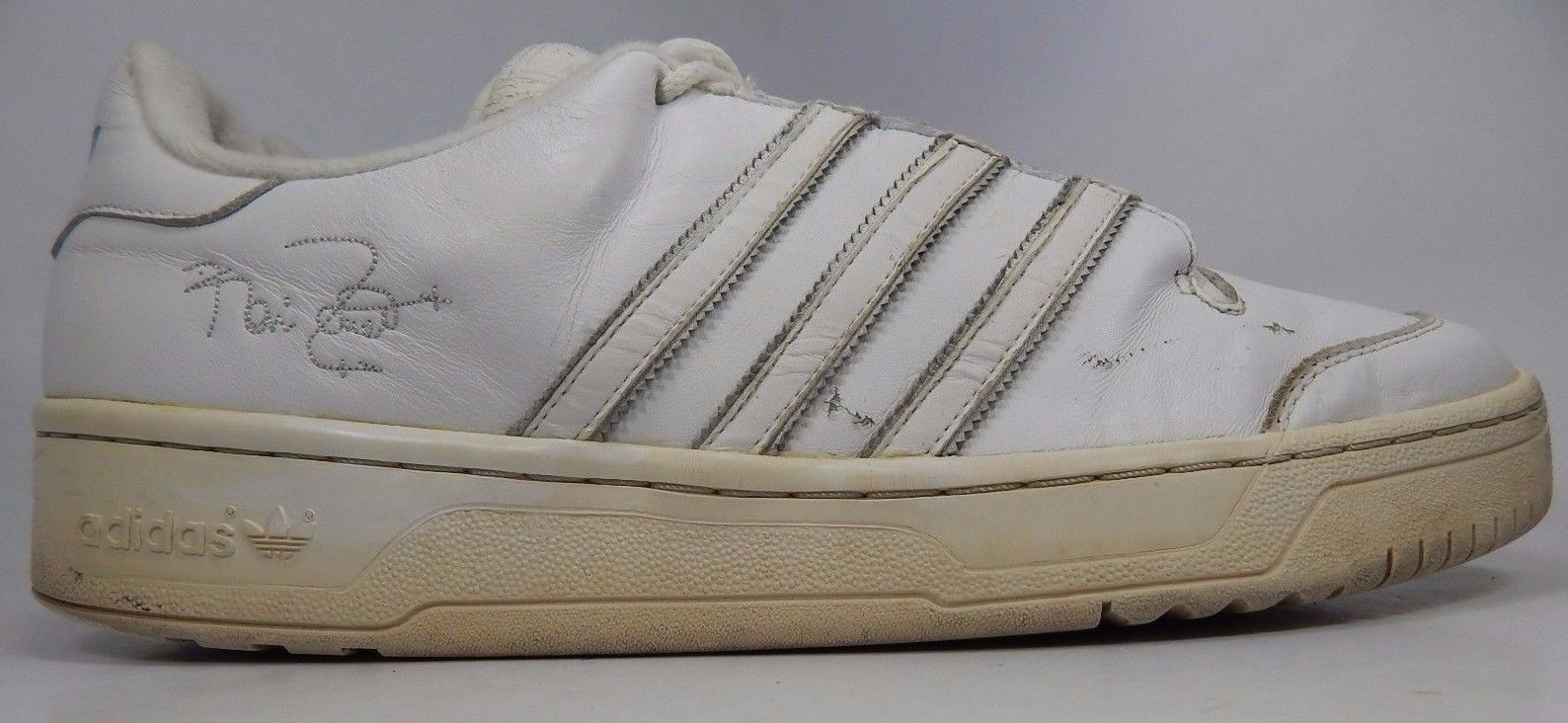Adidas Vintage KG Men's Leather Athletic Shoes Size US 13 M (D) EU 48 White
