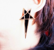 Unique Lacquered Star Trendy Rock Earrings(Black) - $6.99