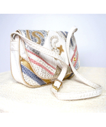1990's Nas Bag Alentino White Patel Vegan Applique Small - $25.00