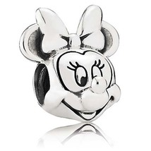 925 Sterling Silver Disney Minnie Mouse Portrait Charm Bead For Bracelet... - €17,67 EUR
