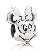 925 Sterling Silver Disney Minnie Mouse Portrait Charm Bead For Bracelet... - $20.99