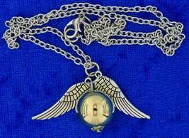 Golden Snitch Necklace Large Gold Color Ball Chain Length Choice - $4.49+