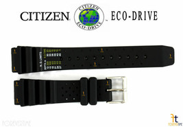 Citizen ND Limits S100631 20mm Black Rubber Watch Band S100623 S097720 S097380 - $47.65