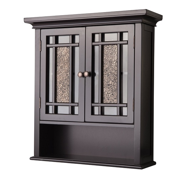 Bathroom wall cabinet elegant home bath storage dark espresso cabinets cupboards - Dark espresso bathroom wall cabinet ...