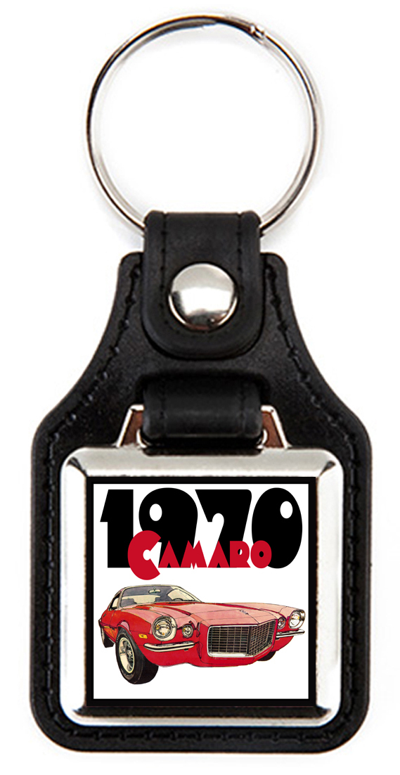1970 Chevrolet Camaro in red Key Chain Key Fob  - $7.50