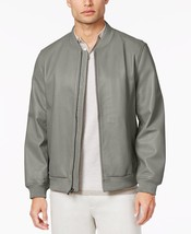 Alfani Men's Capsule Leather Bomber Jacket, Tiramisu, Size XXL, MSRP $499 - $89.09