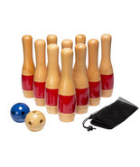 Lawn Bowling Set Sports Equipment Balls Pins Bag 13 Piece Outdoor Play B... - €88,47 EUR
