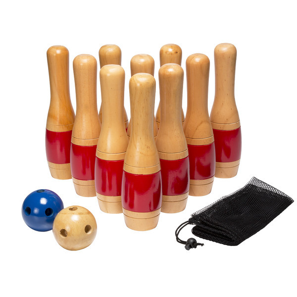 Lawn Bowling Set Sports Equipment Balls Pins Bag 13 Piece Outdoor Play Backyard